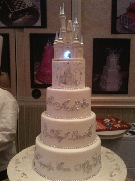 Disney Wedding Cake by Like The Apple Disney Wedding Cakes