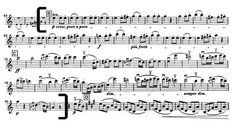 beethoven symphony 7 beethoven symphony no 7 violin excerpt from mvt 2