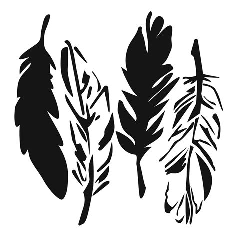 Design Your Own Home With Prices by Glass Stencil Feathers 15cm X 15cm