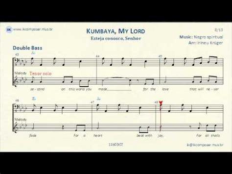 testo bass kumbaya my lord bass