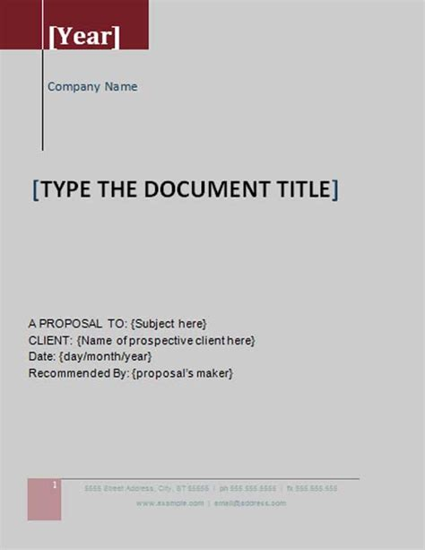 Grant Proposal Template Microsoft Word Templates Free Grant Template Word