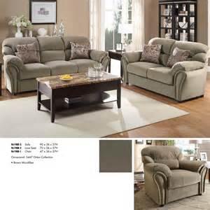 microfiber living room set homelegance valentina 3 piece living room set in brown microfiber beyond stores