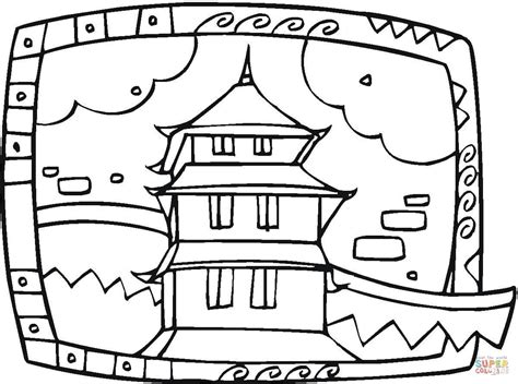 japanese temple coloring page buddhist temple coloring page free printable coloring pages