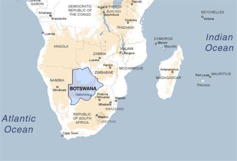 africa map botswana safari botswana