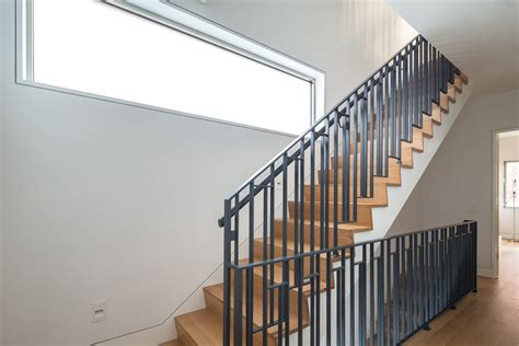 Townhouse Stairs Design with Grandeur And Drama Combined In A New York City Modern Townhouse
