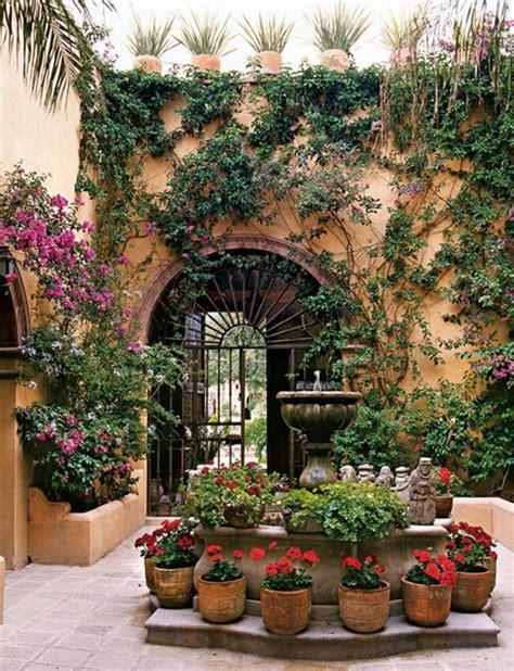 Mexican Garden Decor with Interiors In Mexico Morocco Bali