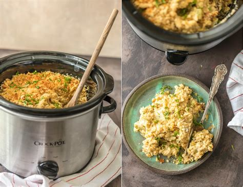 slow cooker broccoli rice casserole the cookie rookie