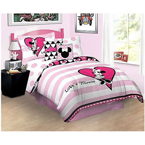 minnie mouse bed set twin disney minnie mouse love twin single bed sheet set