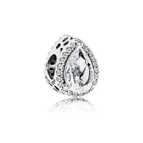 Pandora Robin With And Clear Cz Charm P 766 radiant teardrop charm clear cz pandora jewelry us