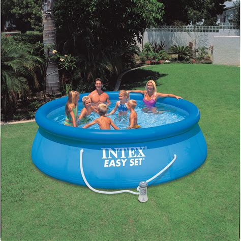 inflatable backyard pools intex 8ft x 30 quot deep easy set inflatable above ground