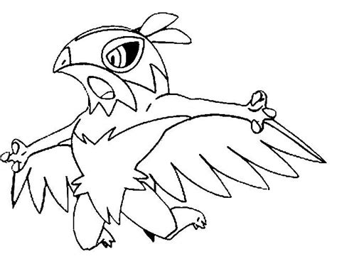 pokemon z coloring pages kleurplaat pokemonxandy hawlucha coloring http www