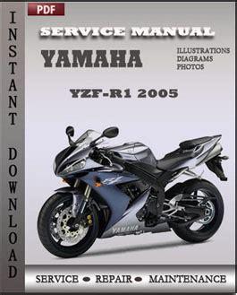 yamaha yzf r1 2005 service repair manual repair service