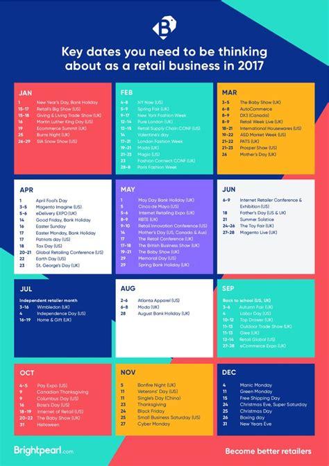 Retail Calendar The 2017 Retail Calendar Key Dates You Need To Think