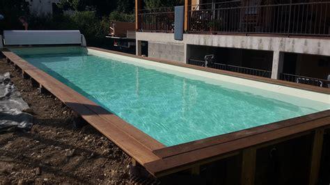 couloir de nage hors sol 466 couloir de nage en bois vercors piscine