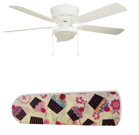 girly cupcakes on white 52 quot ceiling fan and l