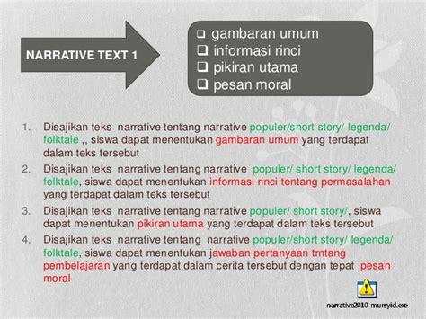 membuat narrative text materi esensial un 2014 ppt autosaved b inggris