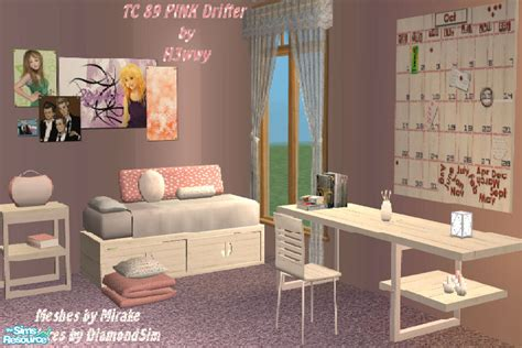 sims 2 bedroom sets h3wwy s tc 89 pink drifter