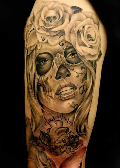 skulls and roses sleeve tattoo 17 best ideas about sleeve tattoos on