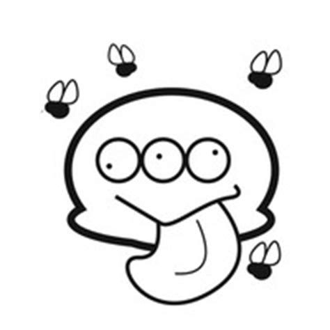 funny monster with flies coloring page