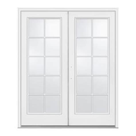 Patio Doors At Home Depot Jeld Wen 60 In X 80 In White Right Inswing Steel