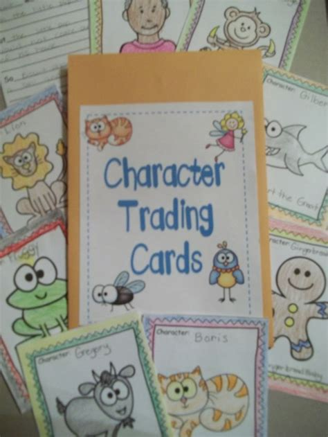 character trading cards template 3rd grade top 10 ideas about 1st grade book character study on