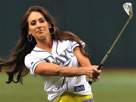 Pics Golfer Holly Sonders Plays Baseball Slide 9 Page 9