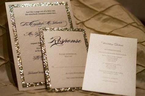 gold sparkle wedding invitations gold silver glitter wedding invitation ensemble 2209494