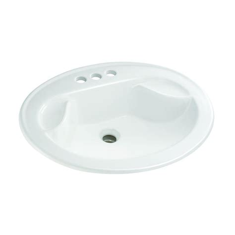 glacier bay bathroom glacier bay drop in bathroom sink with soap dish in white