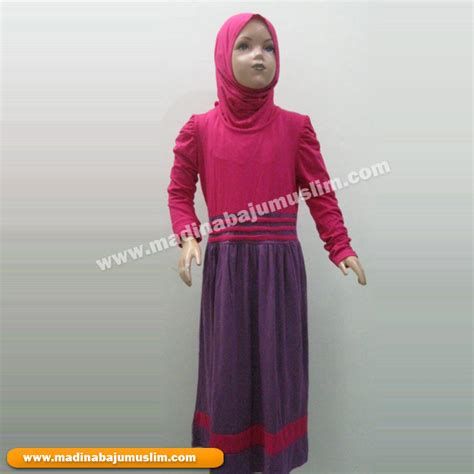 Kaos Anak Perempuan Pensil Ungu baju muslim anak perempuan 10 madina griya busana