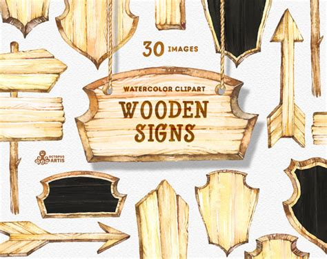 diy wooden signs with sayings with free cut file leap wooden signs watercolor clipart wood planks signboards