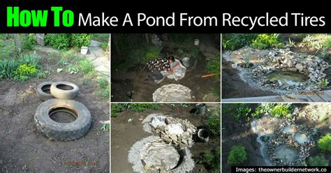 how to make a gorgeous decorative pond from old tires