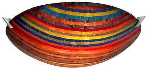 oggetti 70 mosaic 24 quot modern contemporary flush mount