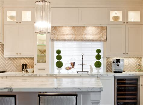 herringbone tile backsplash kitchen transitional with bar