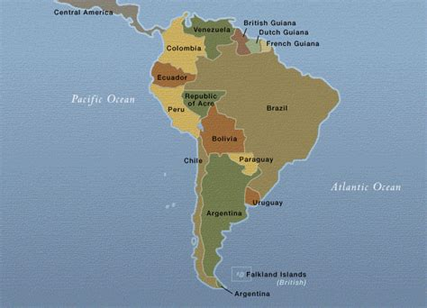 south america map borders south america countries of south america