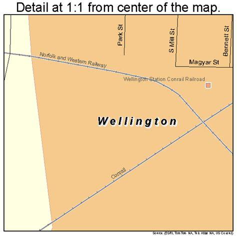 wellington ohio map wellington ohio map 3982642