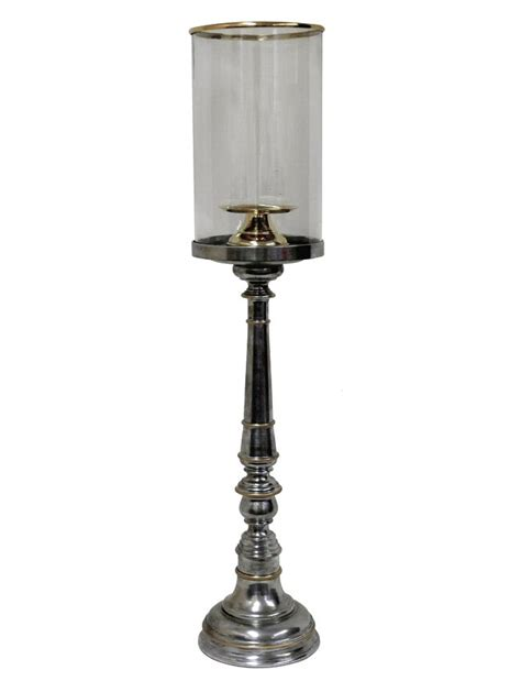 Hurricane Candle Holders Aluminum And Brass Cylinder Hurricane Candle Holder