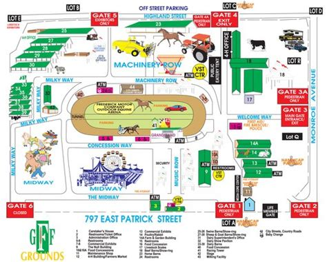 maryland fairgrounds map great frederick fair maplets