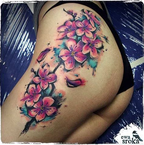 cherry blossom watercolor tattoo the 50 best cherry blossom tattoos inked cherry