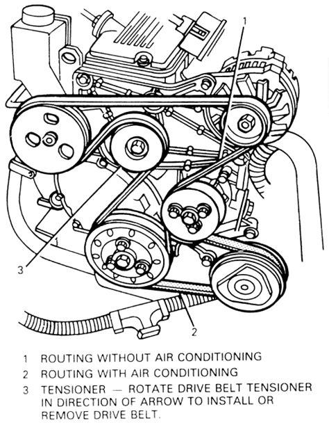 97 buick lesabre belt diagram diagram serpentine belt replacement for a 97 buick lesabre