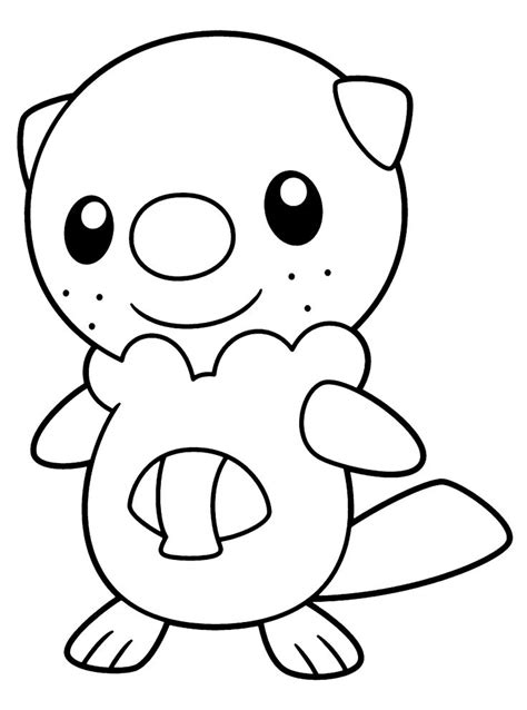 coloring pages of pokemon oshawott pokemon black and white coloring pages of oshawott