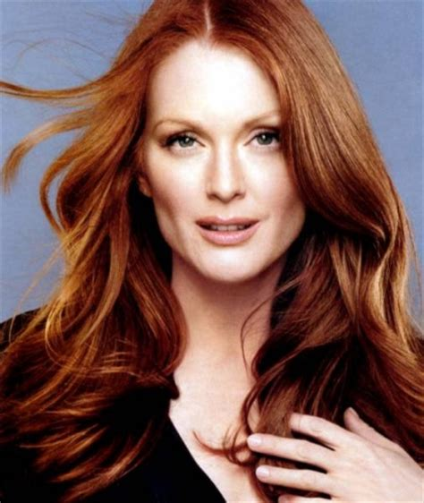 juluann moore coloring celebrities with amazing auburn hair color modern