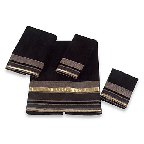 bed bath and beyond geneva buy avanti geneva hand towel in black from bed bath beyond