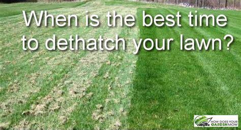 time  dethatch  lawn