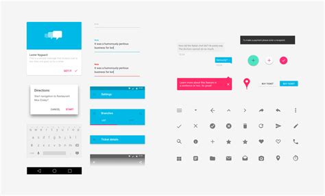 google design ui kit android lollipop material design ui kit for sketch infinum
