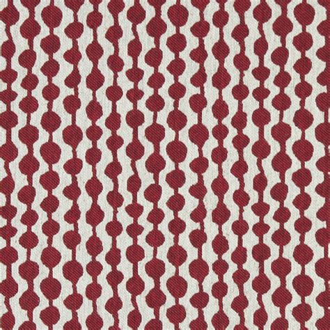 striped linen upholstery fabric red and off white circle striped linen look upholstery