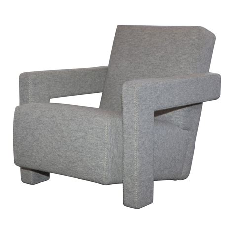 rietveld armchair gerrit thomas rietveld utrecht armchair in light grey by cassina monc xiii