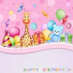 happy birthday baby cards design vector 02 vector birthday vector card free