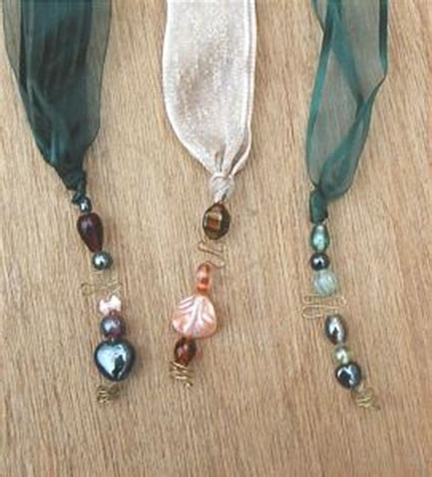 Handmade Beaded Bookmarks - 3 handmade bookmark tassel ribbon and by cafs02