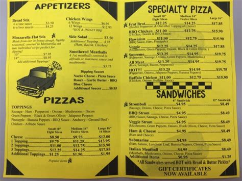 swing in pizza bloomington in menu picture of swing in pizza bloomington tripadvisor