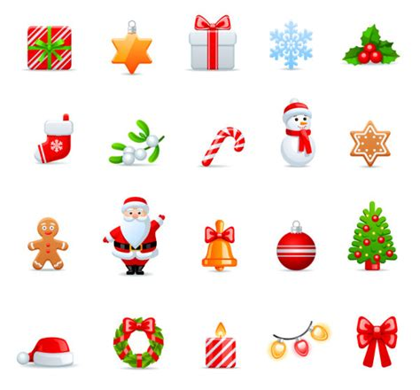 christmas vivid icon vector material holidays icons vector vector icons free